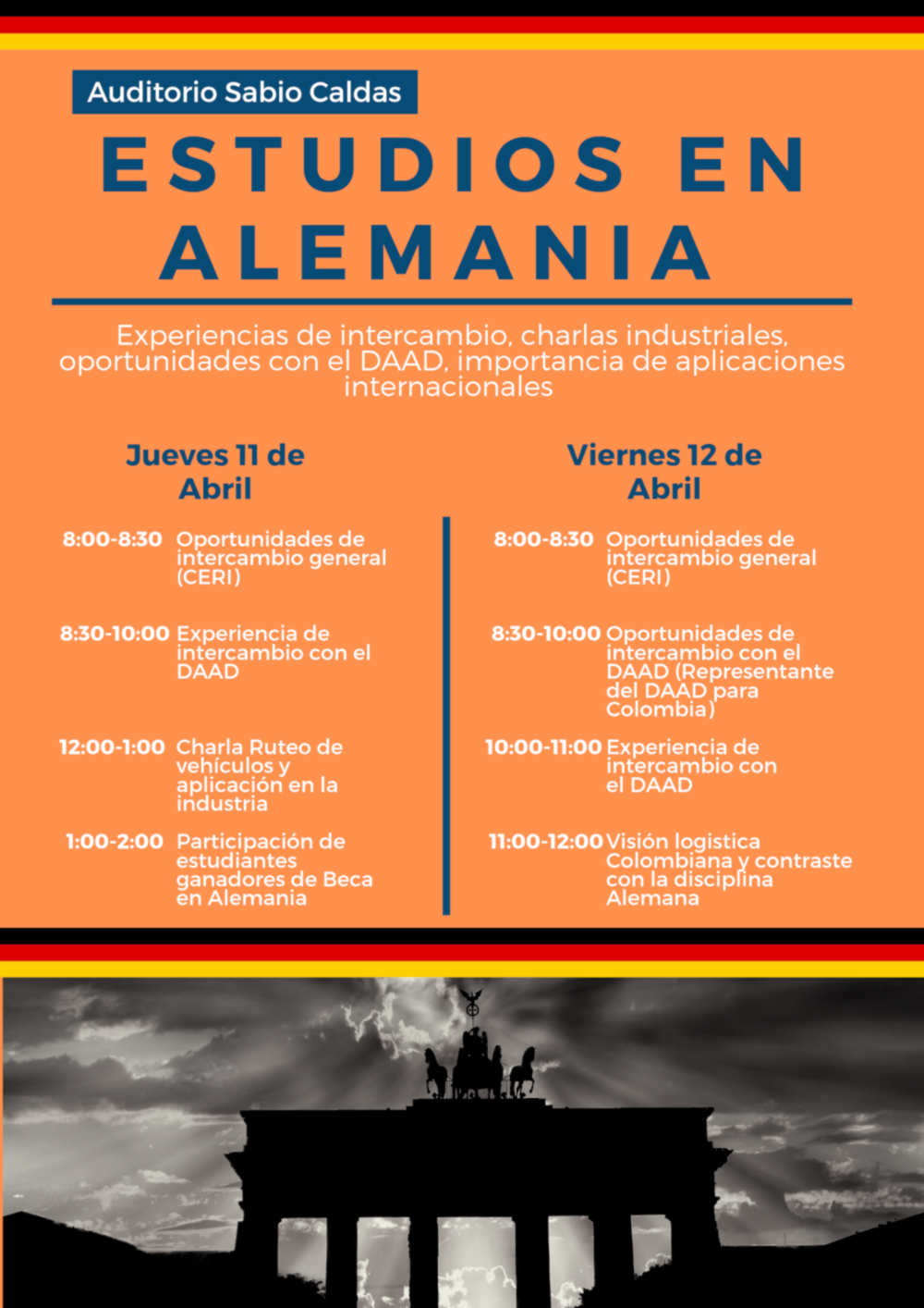 9Abril2019 BECAS Y OPORTUNIDADES EN ALEMANIA ABRIL 11 y 12 2019