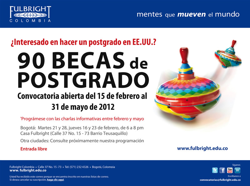 Fulbright 90 Becas EEUU 2012